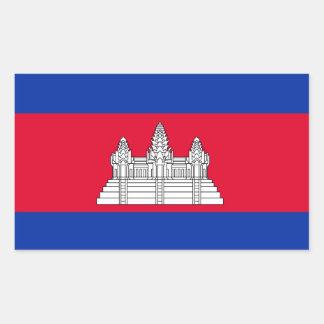 Pegatina de la bandera de Cambodia*