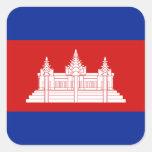 Pegatina de la bandera de Camboya