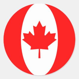 Pegatina de la bandera de Canadá Fisheye