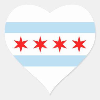Pegatina de la bandera de Chicago