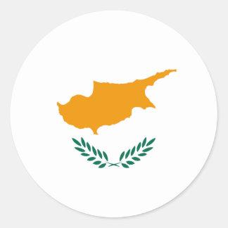 Pegatina de la bandera de Chipre Fisheye