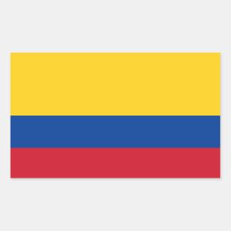 Pegatina de la bandera de Colombia
