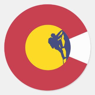 Pegatina de la bandera de Colorado