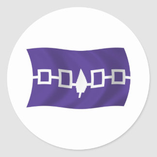 Pegatina de la bandera de Confederacy del Iroquois