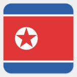 Pegatina de la bandera de Corea del Norte