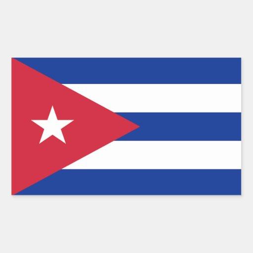 Pegatina de la bandera de Cuba