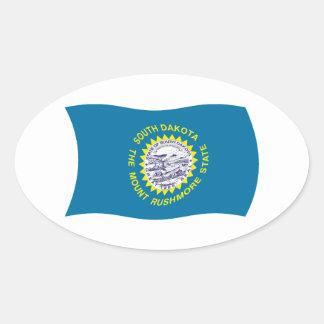Pegatina de la bandera de Dakota del Sur