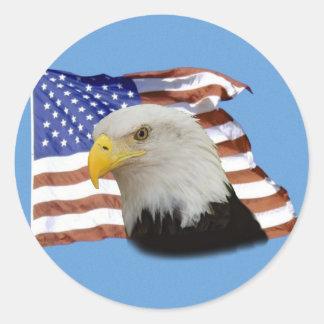 Pegatina de la bandera de Eagle