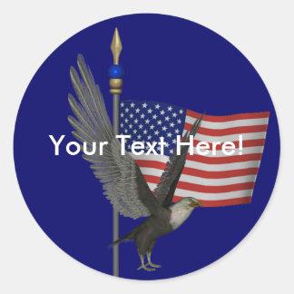 Pegatina de la bandera de Eagle calvo los E.E.U.U.