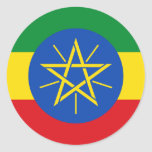 Pegatina de la bandera de Etiopía