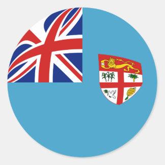 Pegatina de la bandera de Fiji Fisheye