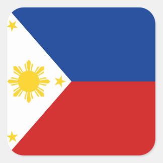 Pegatina de la bandera de Filipinas