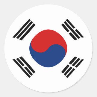 Pegatina de la bandera de Fisheye de la Corea del