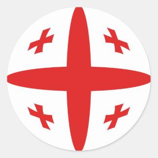 Pegatina de la bandera de Georgia Fisheye