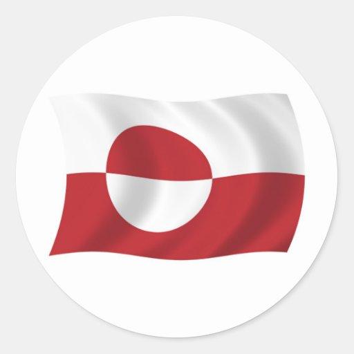 Pegatina de la bandera de Groenlandia