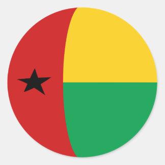Pegatina de la bandera de Guinea-Bissau Fisheye