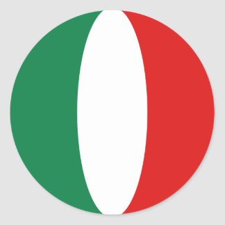 Pegatina de la bandera de Italia Fisheye