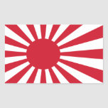 Pegatina de la bandera de Japón
