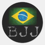 Pegatina de la bandera de Jiu Jitsu del brasilen@o