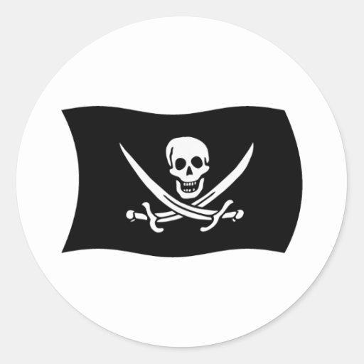 Pegatina de la bandera de Juan Rackham