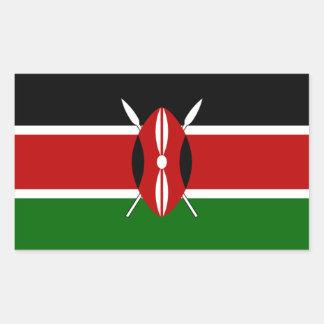 Pegatina de la bandera de Kenia