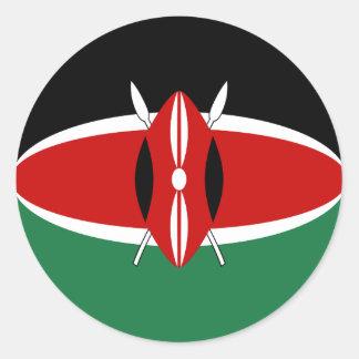 Pegatina de la bandera de Kenia Fisheye
