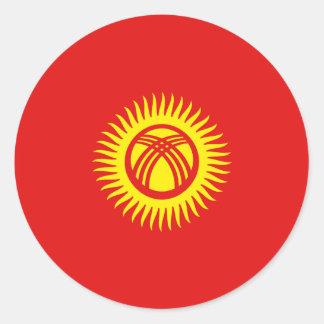 Pegatina de la bandera de Kirguistán Fisheye