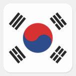 Pegatina de la bandera de la Corea del Sur