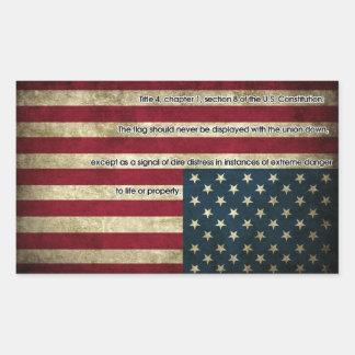 Pegatina de la bandera de la desolación