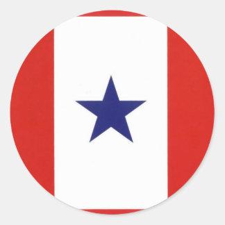 Pegatina de la bandera de la estrella azul