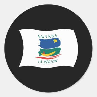 Pegatina de la bandera de la Guayana Francesa