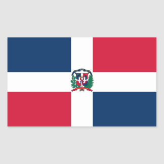 Pegatina de la bandera de la República Dominicana