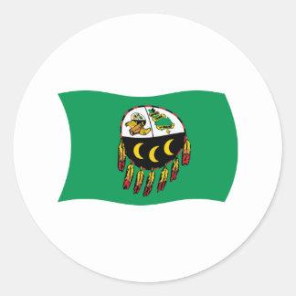 Pegatina de la bandera de la tribu de Kutenai