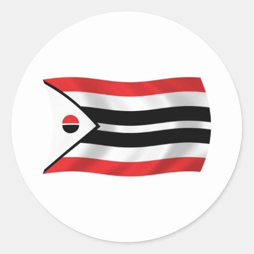 Pegatina de la bandera de la tribu del Arapaho