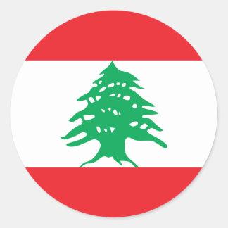 Pegatina de la bandera de Líbano