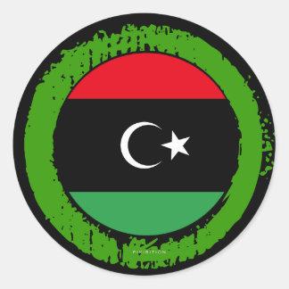 Pegatina de la bandera de Libia
