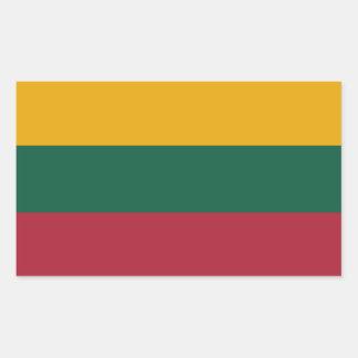 Pegatina de la bandera de Lituania