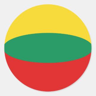 Pegatina de la bandera de Lituania Fisheye