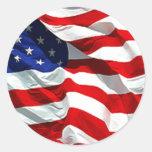 Pegatina de la bandera de los E.E.U.U. y sello del