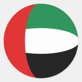 Pegatina de la bandera de los UAE Fisheye