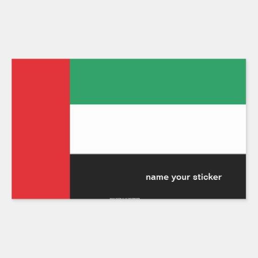 Pegatina de la bandera de los UAE United Arab