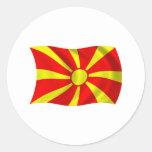 Pegatina de la bandera de Macedonia