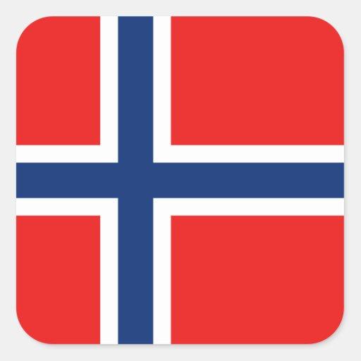 Pegatina de la bandera de Noruega
