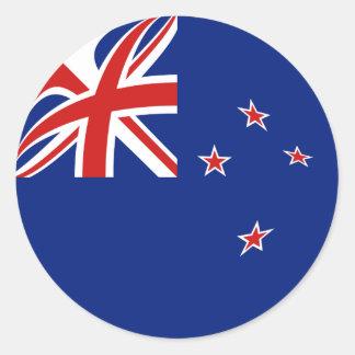Pegatina de la bandera de Nueva Zelanda Fisheye