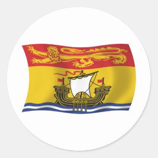 Pegatina de la bandera de Nuevo Brunswick