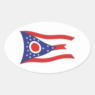 Pegatina de la bandera de Ohio