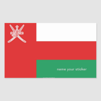 Pegatina de la bandera de Omán