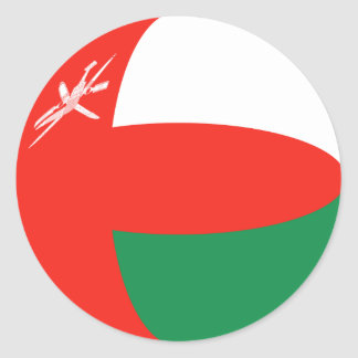 Pegatina de la bandera de Omán Fisheye
