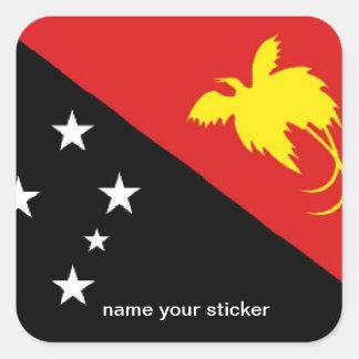 Pegatina de la bandera de Papúa Nueva Guinea