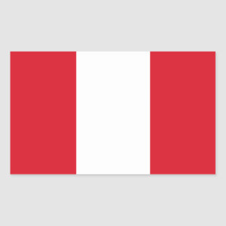 Pegatina de la bandera de Perú